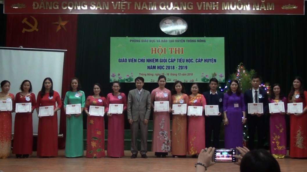 """Thông Nông: 29 giáo viên đạt danh hiệu """"Giáo viên chủ nhiệm giỏi"""" năm học 2018 - 2019"""