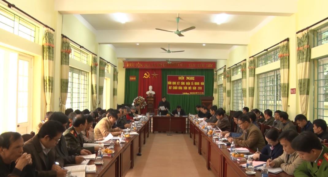 Thẩm định các tiêu chí nông thôn mới tại xã Quang Hán (Trà Lĩnh)
