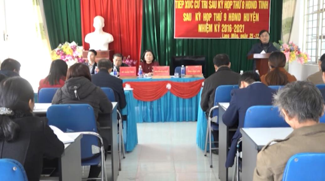 Đại biểu HĐND tỉnh tiếp xúc cử tri xã Lang Môn (Nguyên Bình)