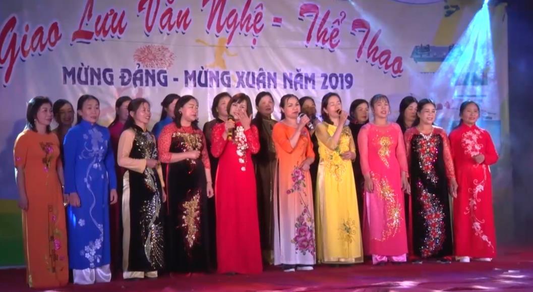 Hòa An: Giao lưu văn nghệ mừng Đảng, mừng Xuân năm 2019