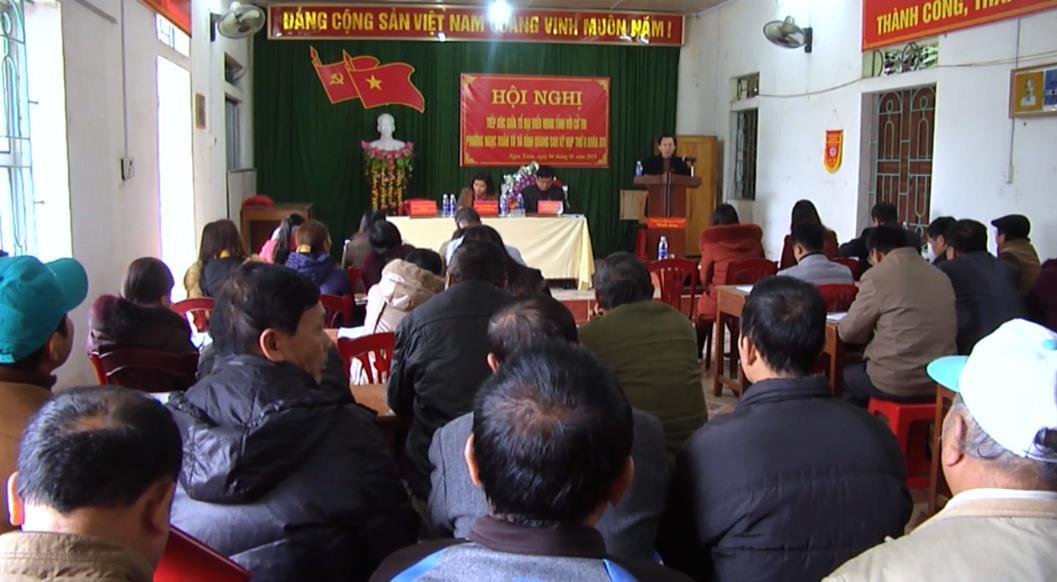 Đại biểu HĐND tỉnh tiếp xúc cử tri xã Vĩnh Quang và phường Ngọc Xuân (Thành phố)