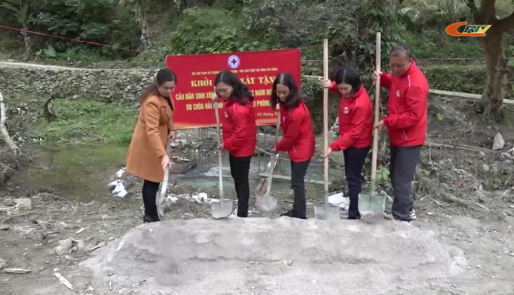 Hòa An: Khởi công xây dựng cầu dân sinh xóm Nà Tổng, xã Hồng Nam