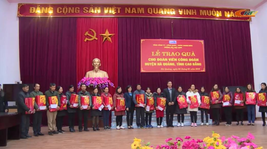 Công đoàn Đường sắt Việt Nam: Tặng quà đoàn viên Công đoàn huyện Hà Quảng