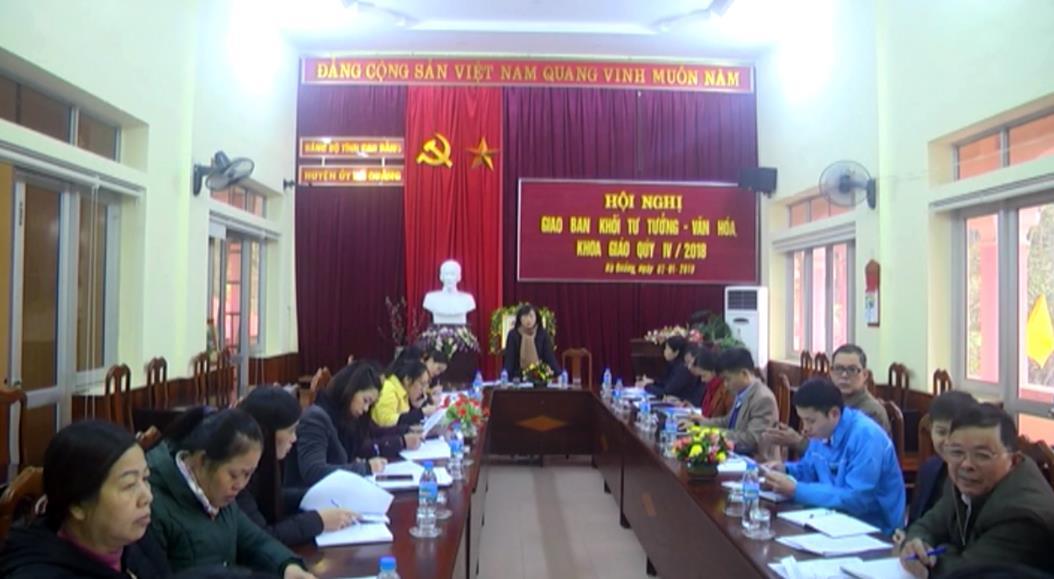 Hà Quảng: Giao ban Khối Tư tưởng - Văn hóa quý IV/2018