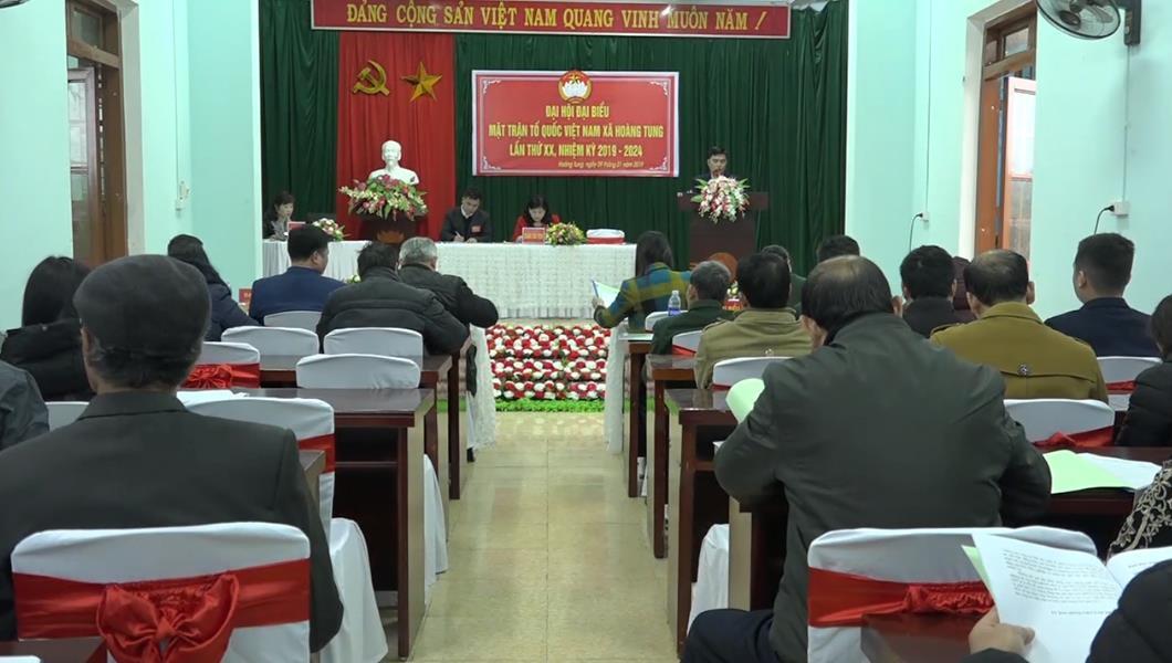 Hòa An: Đại hội đại biểu MTTQ xã Hoàng Tung nhiệm kỳ 2019 - 2024