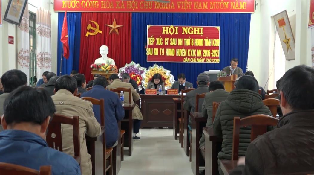 Đại biểu HĐND tỉnh tiếp xúc cử tri huyện Hòa An