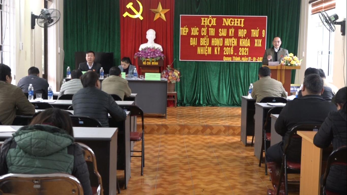 Nguyên Bình: Đại biểu HĐND huyện tiếp xúc cử tri 2 xã Quang Thành Hưng Đạo