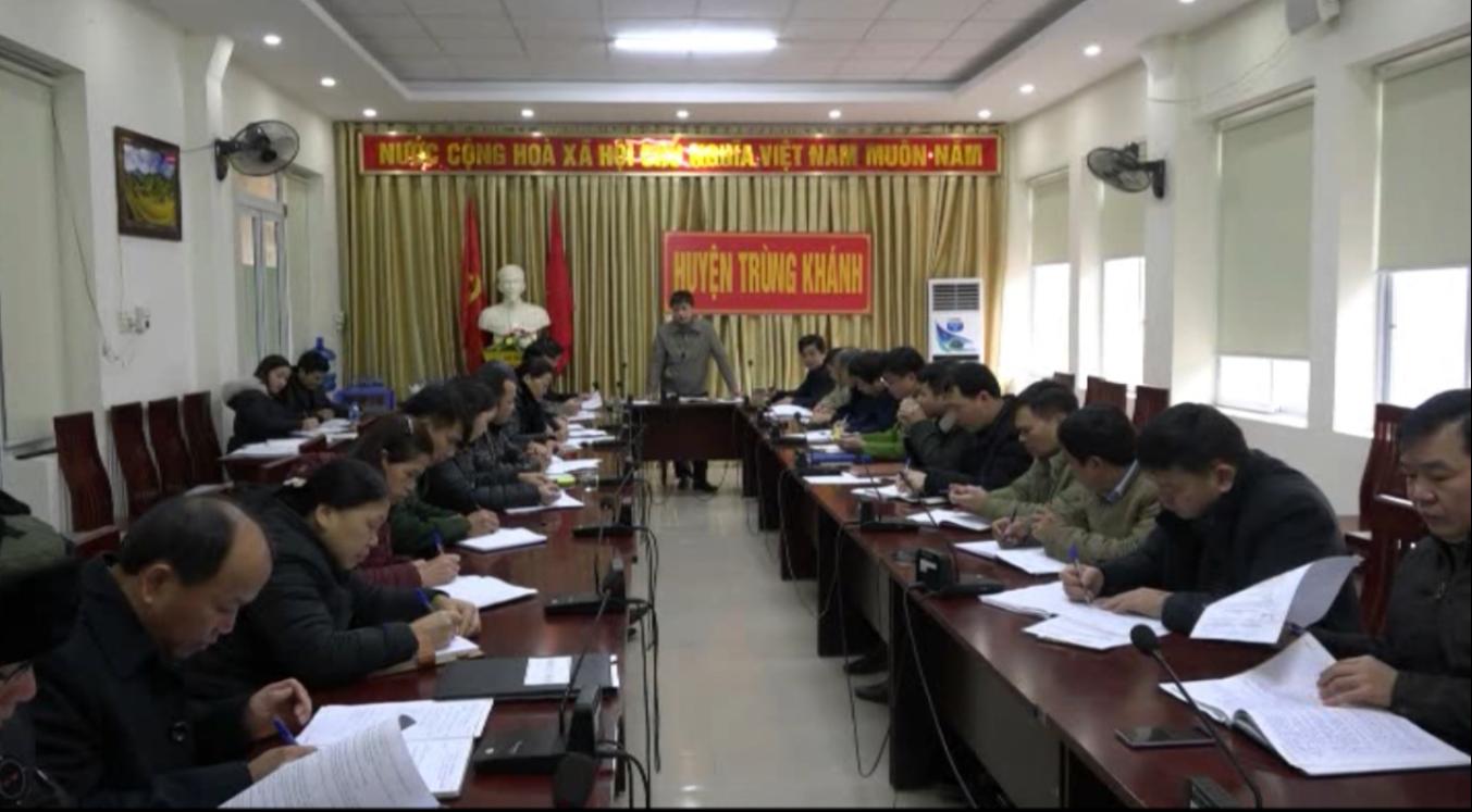 Trùng Khánh: UBND huyện giao ban đầu năm 2019