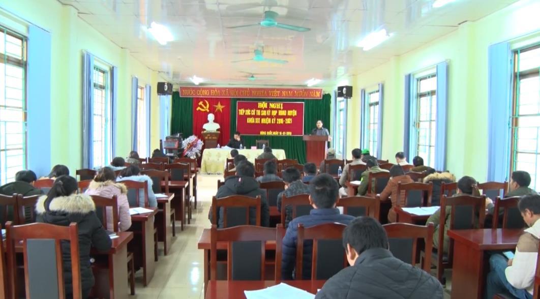 Đại biểu HĐND huyện Trà Lĩnh tiếp xúc cử tri sau kỳ họp thứ 7, HĐND huyện