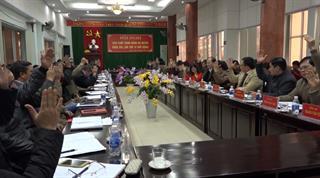 Hòa An: Hội nghị Ban Chấp hành Đảng bộ huyện lần thứ 19 (mở rộng)