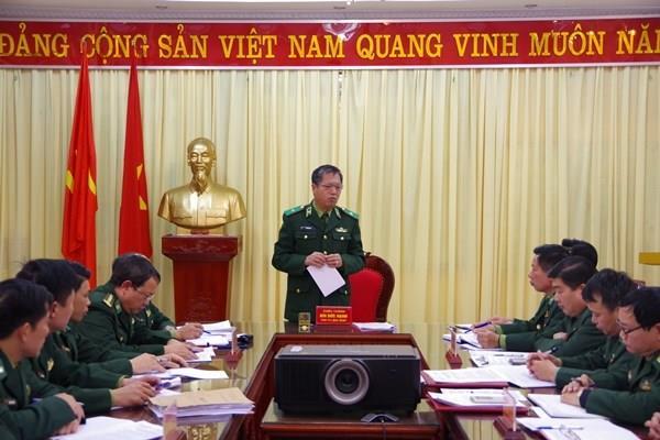 Đoàn công tác Bộ Tư lệnh BĐBP làm việc với BĐBP tỉnh