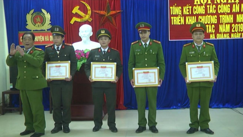 Hà Quảng: Công an huyện triển khai nhiệm vụ năm 2019