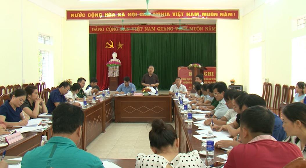Kiểm tra tình hình xây dựng nông thôn mới tại xã Sóc Hà (Hà Quảng)