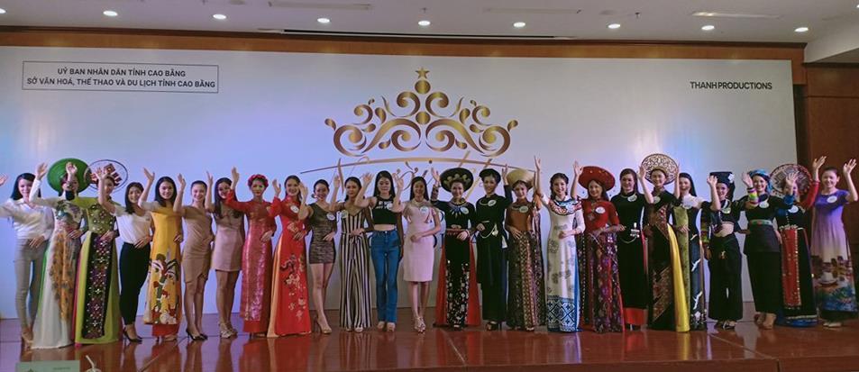 """25 thí sinh lọt vào vòng chung khảo cuộc thi """"Người đẹp du lịch Non nước Cao Bằng"""" năm 2019"""