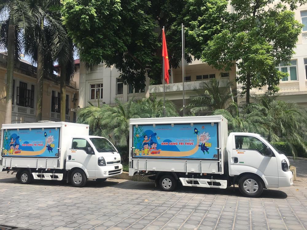 31 tỉnh, thành phố nhận ô tô thư viện lưu động đa phương tiện