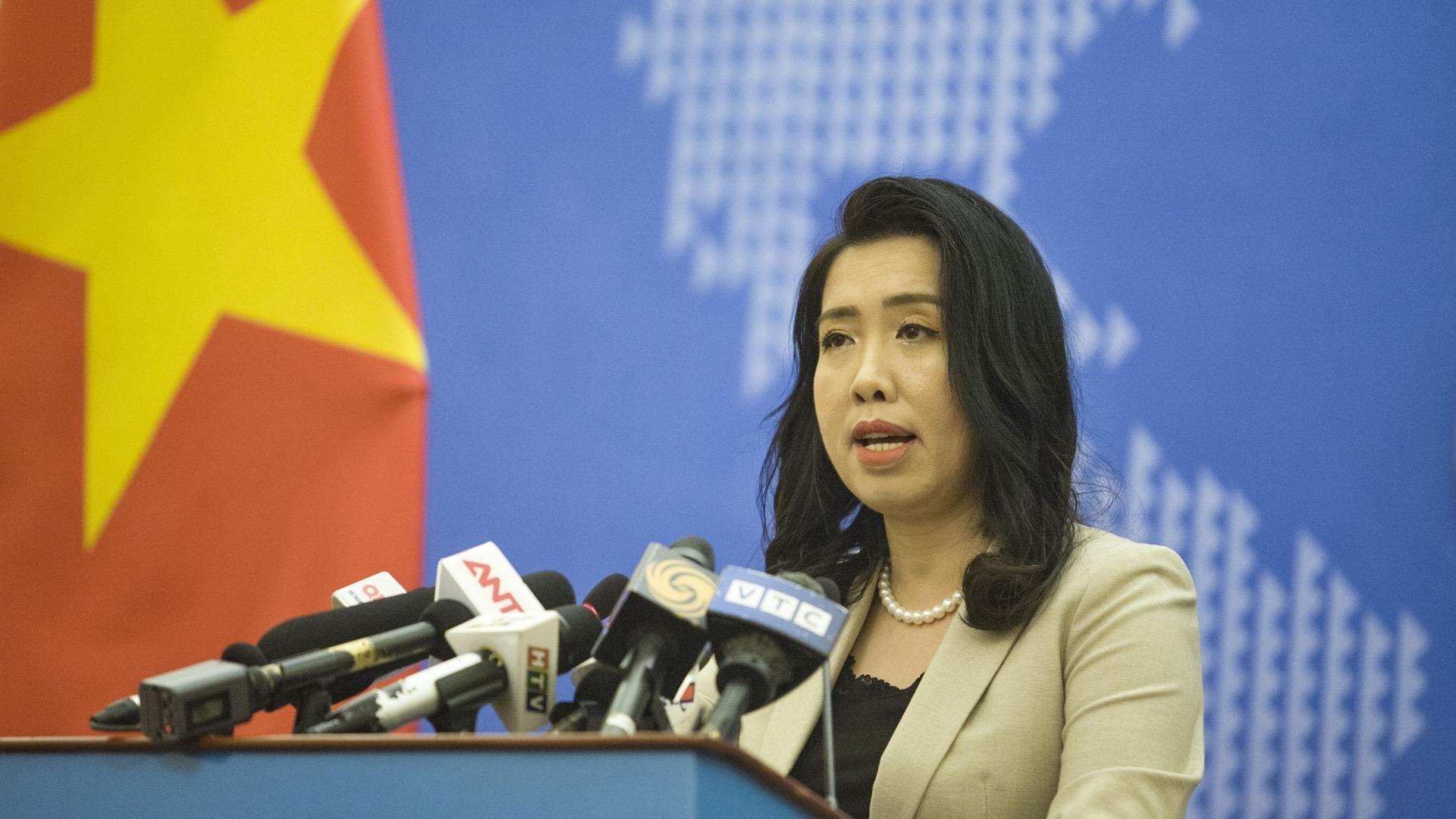 Yêu cầu Trung Quốc rút toàn bộ nhóm tàu Hải Dương 8 khỏi vùng biển Việt Nam
