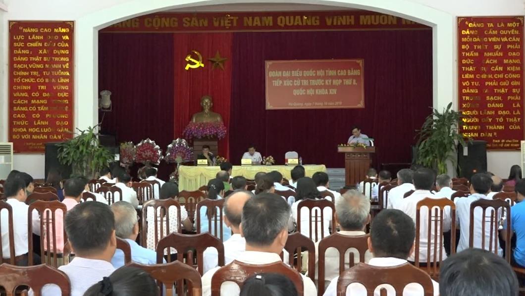 Đại biểu Quốc hội tỉnh tiếp xúc cử tri huyện Hà Quảng