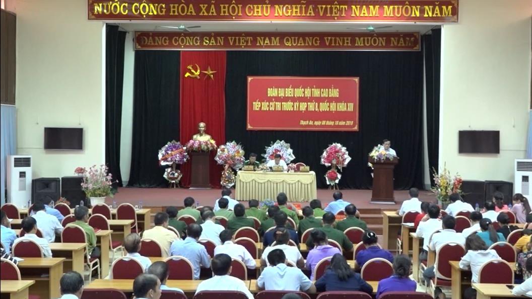Đại biểu Quốc hội tỉnh tiếp xúc cử tri huyện Thạch An