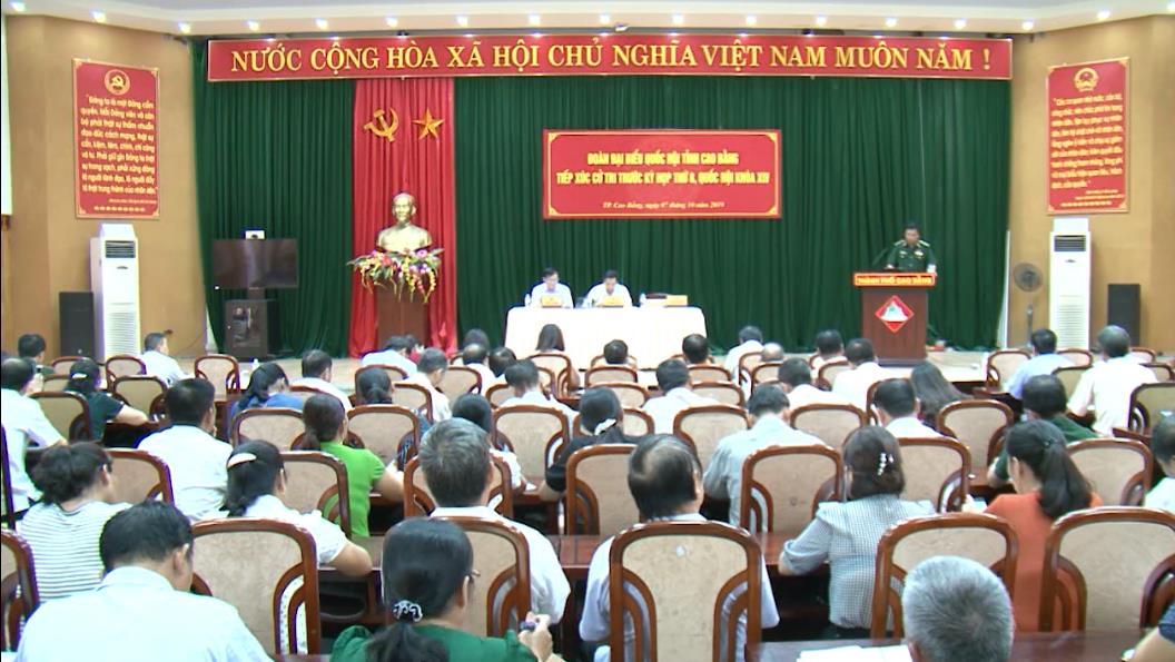 Đại biểu Quốc hội tỉnh tiếp xúc cử tri thành phố Cao Bằng trước kỳ họp thứ 8, Quốc hội khóa XIV
