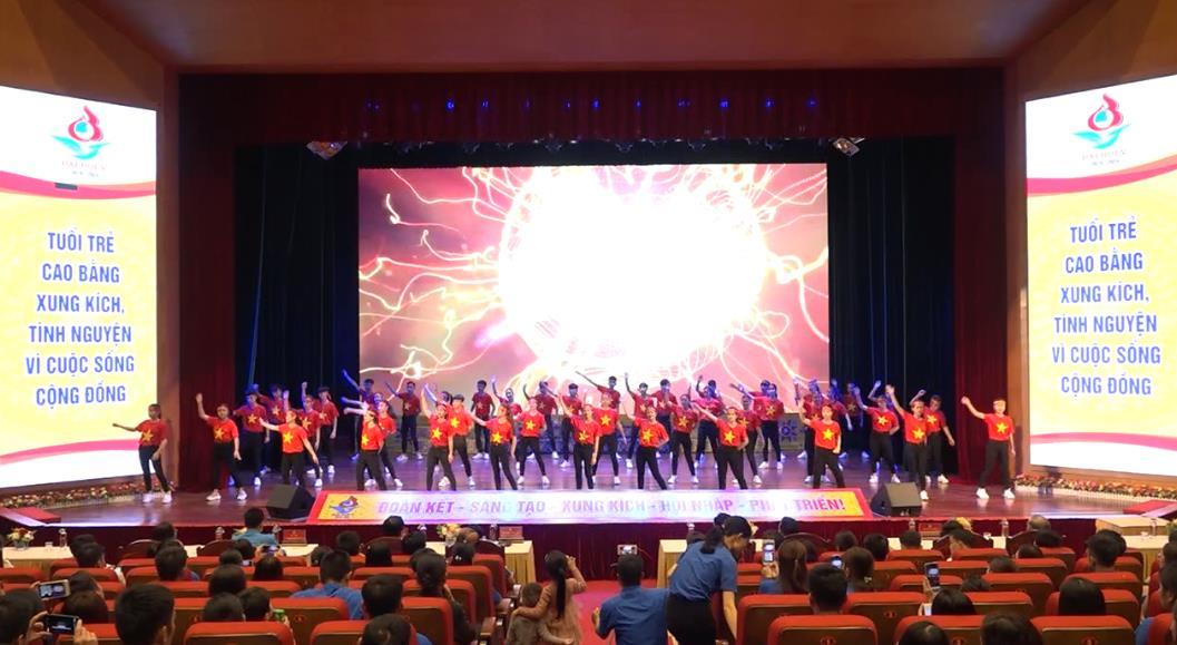 """Chương trình nghệ thuật """"Khát vọng tuổi trẻ"""" chào mừng Đại hội đại biểu Hội LHTN Việt Nam tỉnh Cao Bằng"""