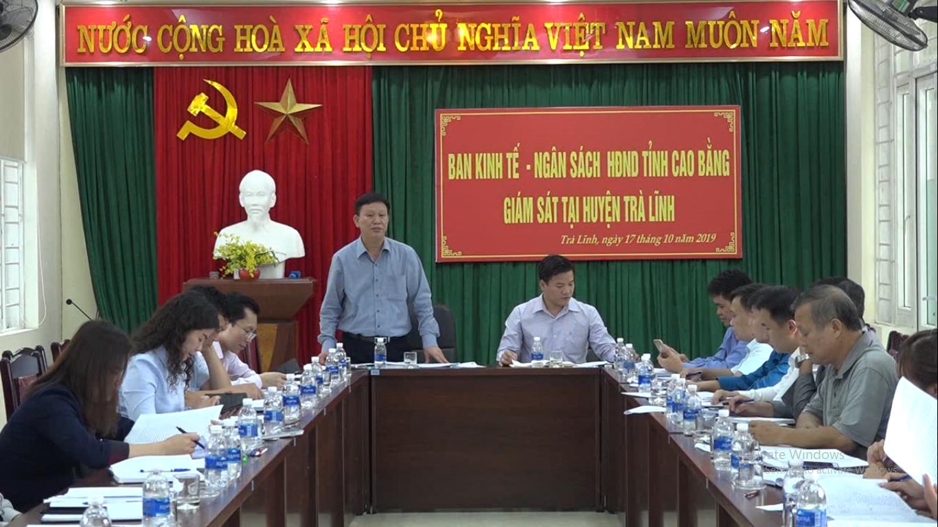 HĐND tỉnh: Giám sát tình hình sử dụng kinh phí sự nghiệp kiến thiết thị chính, môi trường tại huyện Trà Lĩnh