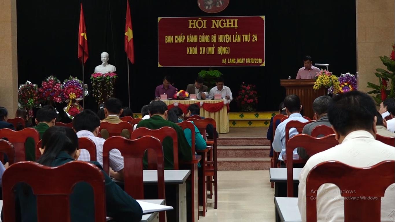 Hội nghị  lần thứ 24 BCH Đảng bộ huyện Hạ Lang khóa XV (mở rộng)