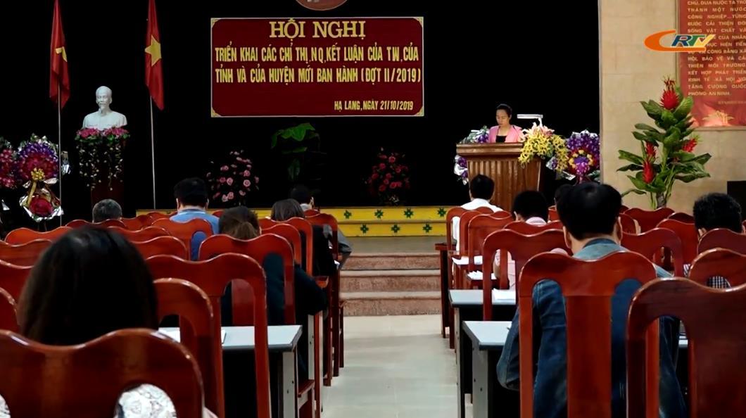 Hạ Lang: Học tập, quán triệt, tuyên truyền các chỉ thị, nghị quyết, kết luận của trung ương, của tỉnh