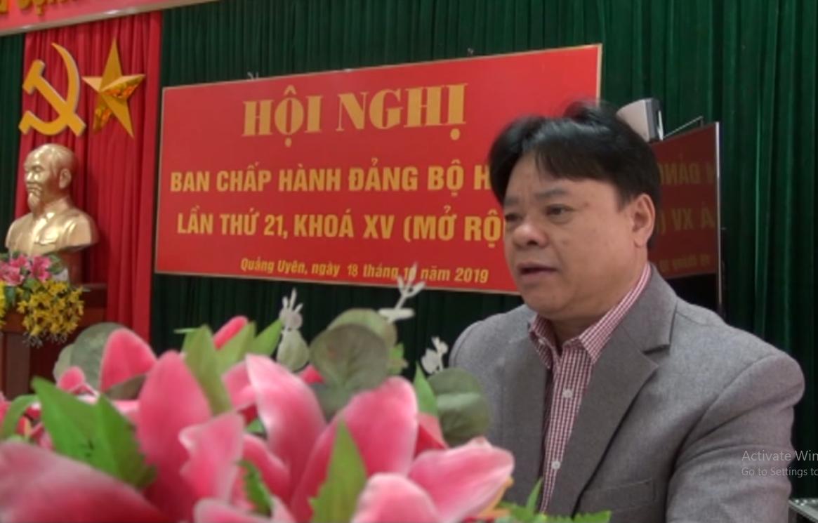 Quảng Uyên: Triển khai công tác xây dựng Đảng, chính quyền 3 tháng cuối năm 2019