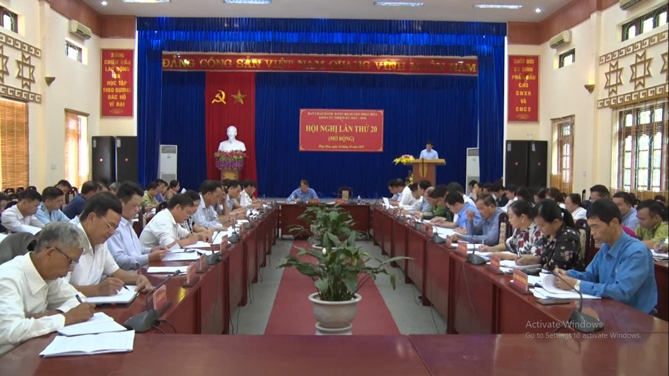 Phục Hòa: Hội nghị lần thứ 20 Ban Chấp hành Đảng bộ huyện khóa XV
