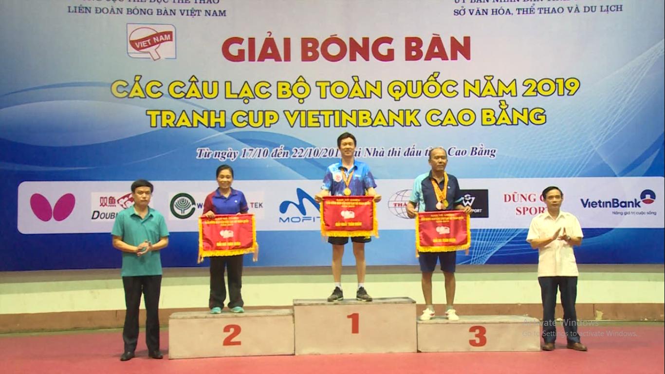 Bế mạc Giải bóng bàn các CLB toàn quốc năm 2019 tại Cao Bằng