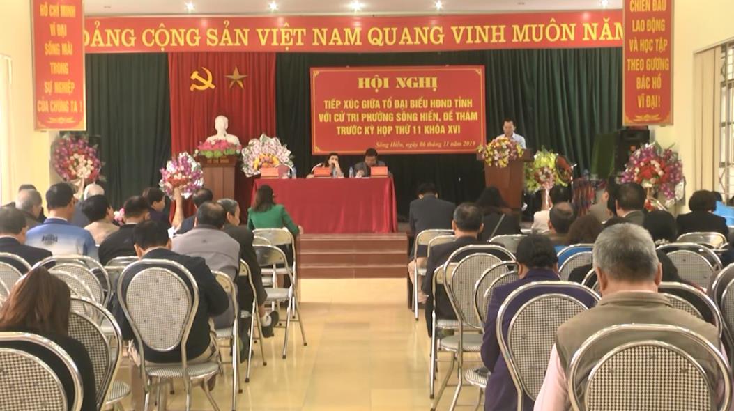 Đại biểu HĐND tỉnh tiếp xúc cử tri thành phố Cao Bằng