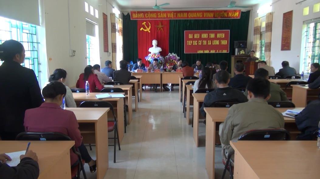 Đại biểu HĐND tỉnh tiếp xúc cử tri huyện Phục Hòa