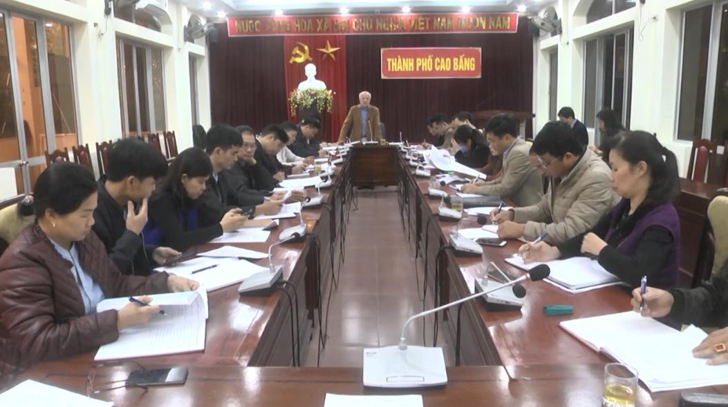 Đoàn ĐBQH tỉnh khảo sát thực trạng việc quản lý, sử dụng đất đai đô thị tại thành phố Cao Bằng
