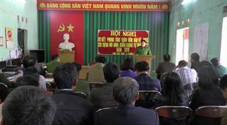 """Trùng Khánh: Sơ kết đợt phát động phong trào """"Toàn dân bảo vệ an ninh Tổ quốc"""" tại xã Đoài Côn"""