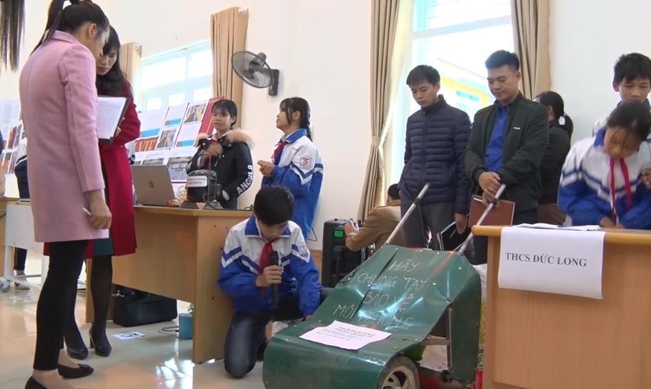 Hòa An: 17 sản phẩm tham gia Cuộc thi khoa học kỹ thuật học sinh THCS năm học 2019 - 2020