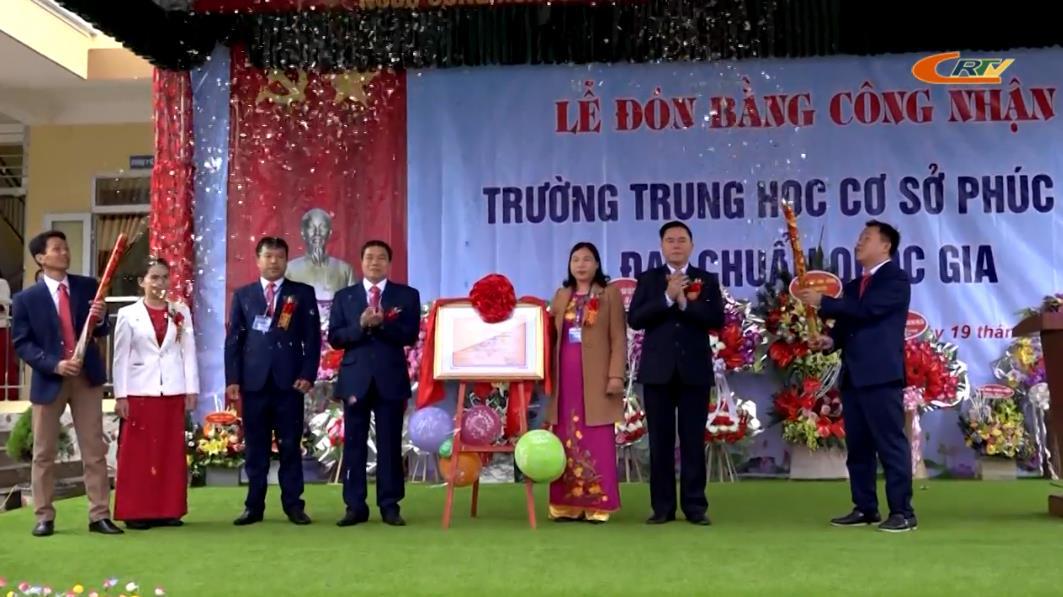 Quảng Uyên: Trường THCS Phúc Sen đón Bằng công nhận trường chuẩn quốc gia mức độ 1