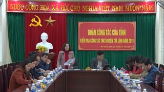 Đoàn công tác của tỉnh kiểm tra công tác thi đua, khen thưởng tại huyện Trà Lĩnh