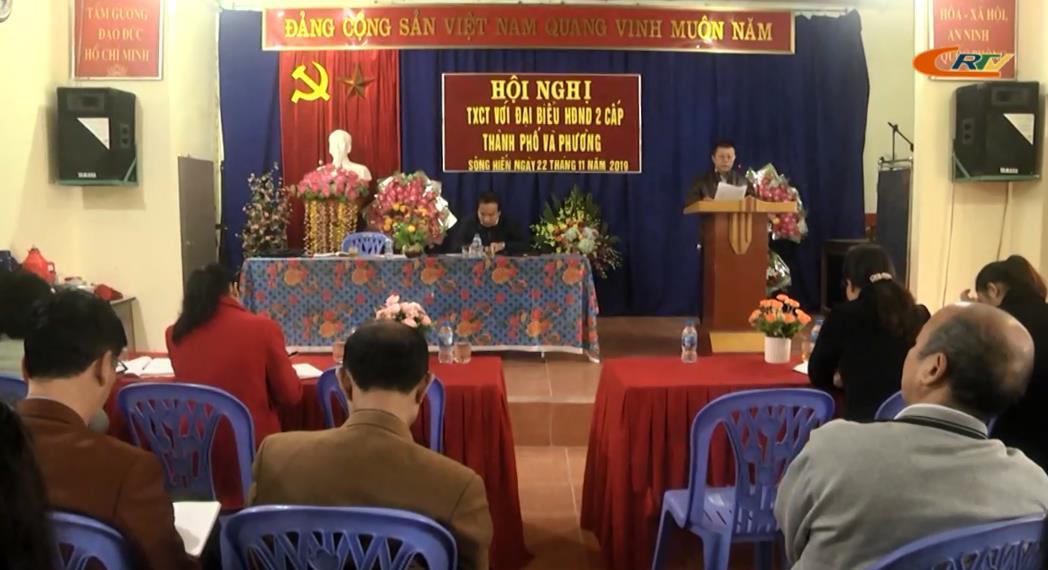 Đại biểu HĐND thành phố Cao Bằng tiếp xúc cử tri