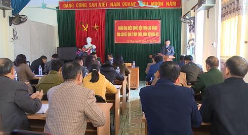 ĐBQH tỉnh tiếp xúc cử tri xã Cốc Pàng (Bảo Lạc)