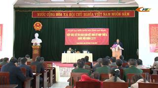 Đoàn ĐBQH tỉnh tiếp xúc cử tri huyện Trùng Khánh