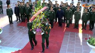 Đoàn công tác Bộ Quốc phòng hành quân về nguồn tại Khu di tích Quốc gia đặc biệt rừng Trần Hưng Đạo