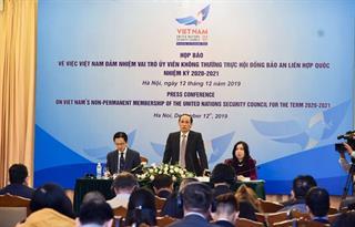 Việt Nam sẵn sàng cho vai trò Chủ tịch Hội đồng Bảo an Liên hợp quốc tháng 1/2020