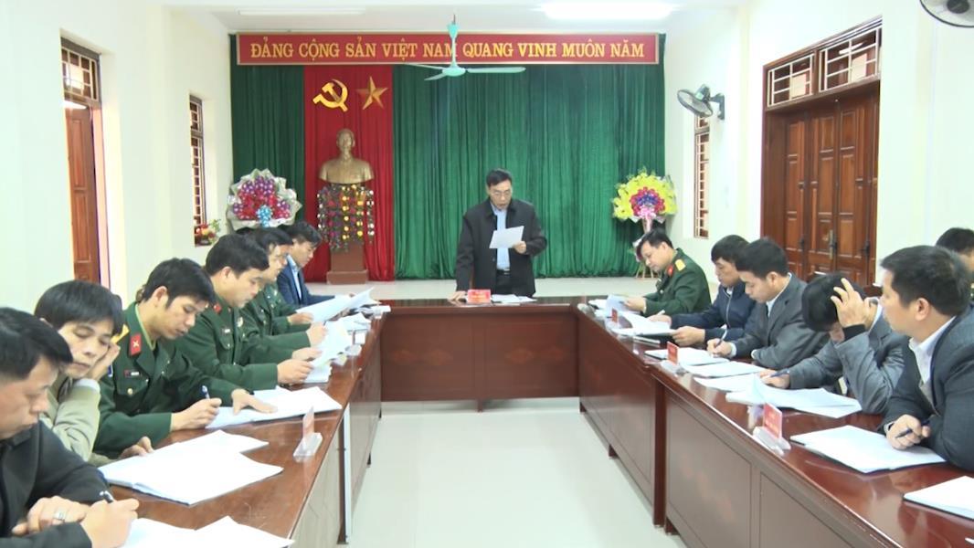 Đảng ủy Quân sự huyện Trà Lĩnh: Ra Nghị quyết lãnh đạo thực hiện nhiệm vụ năm 2020