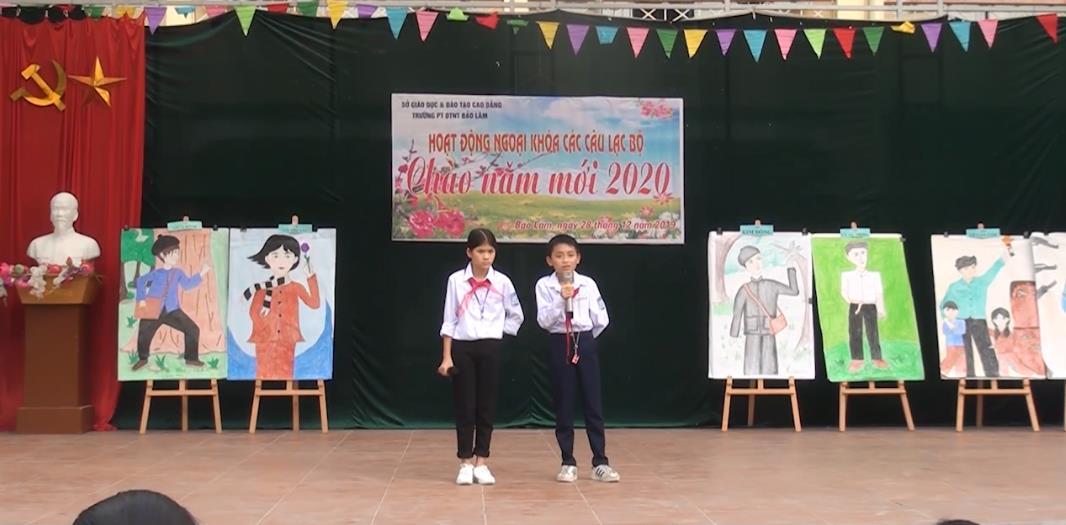 Trường PTDTNT Bảo Lâm: Ngoại khóa chào năm mới 2020