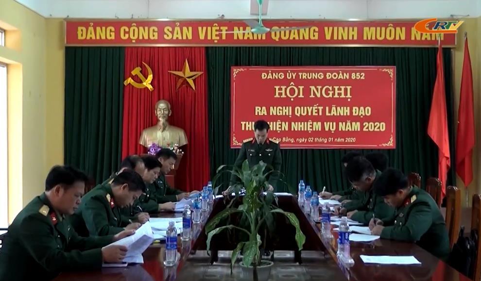 Trung đoàn 852: Đánh giá công tác lãnh đạo xây dựng Đảng bộ và tổng kết nhiệm vụ năm 2019