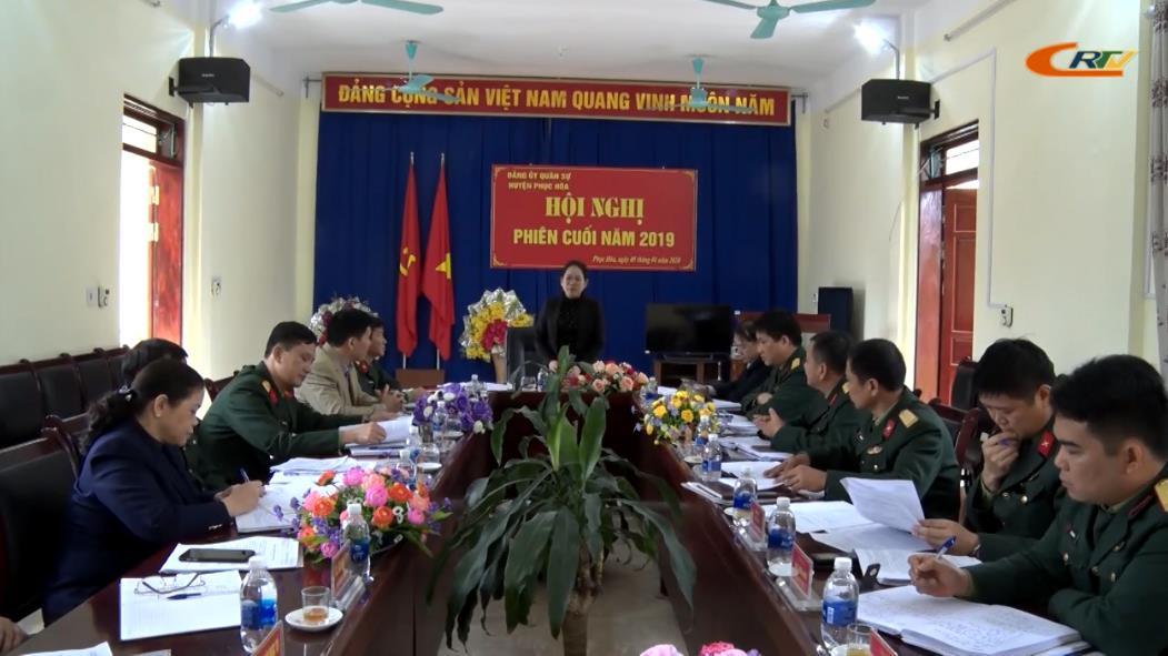 Phục Hòa: Đảng ủy Quân sự huyện ra Nghị quyết lãnh đạo nhiệm vụ năm 2020