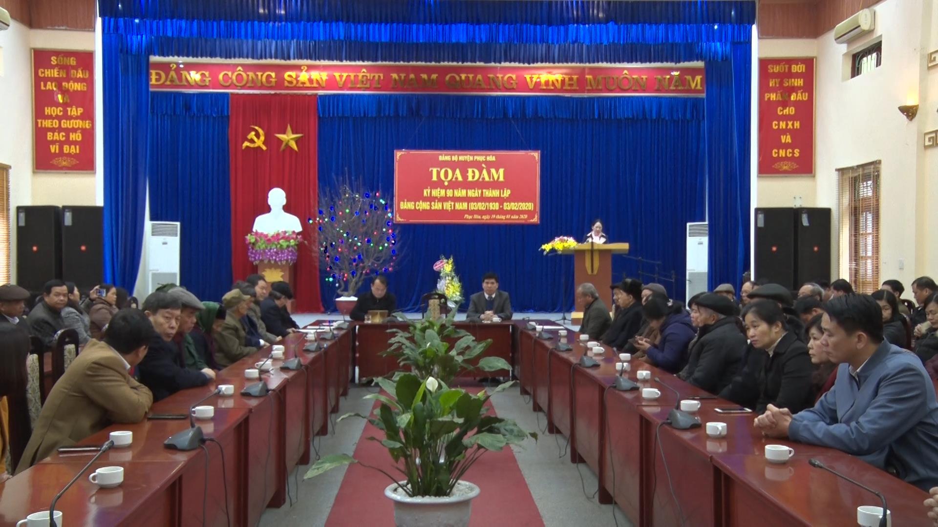 Phục Hòa: Tọa đàm kỷ niệm 90 năm Ngày thành lập Đảng Cộng sản Việt Nam
