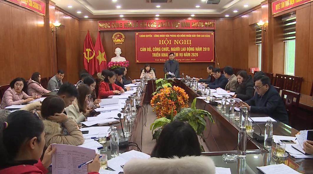 Văn phòng HĐND tỉnh: Hội nghị cán bộ, công chức, người lao động năm 2019