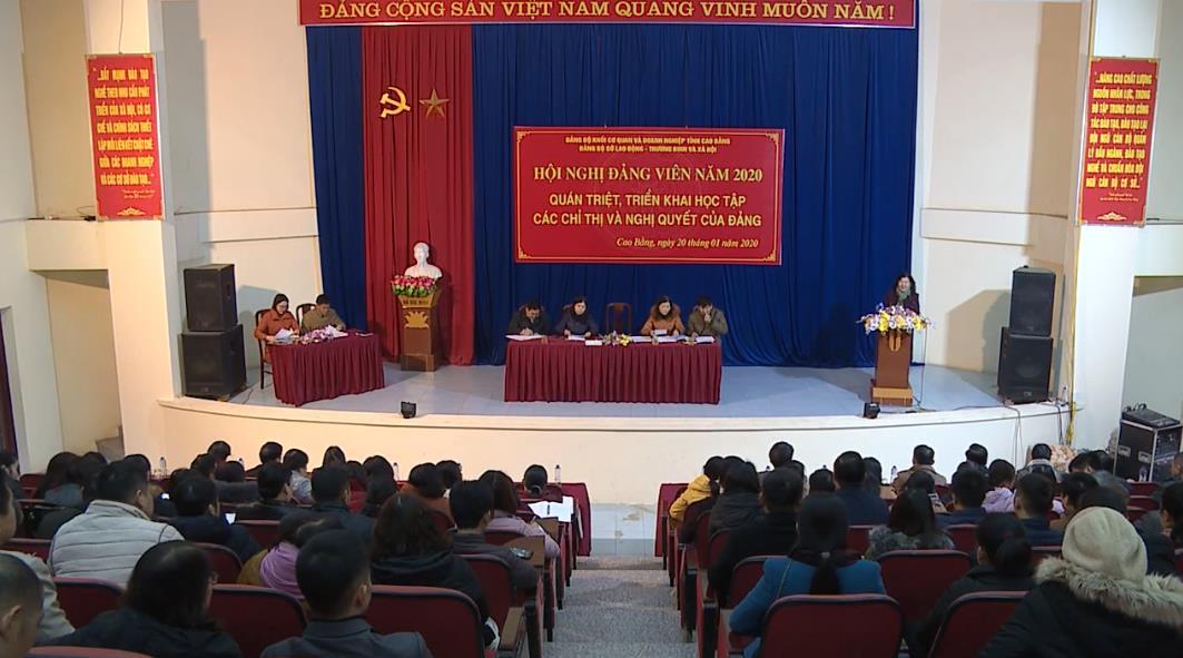 Sở Lao động, Thương binh và Xã hội: Hội nghị đảng viên năm 2020