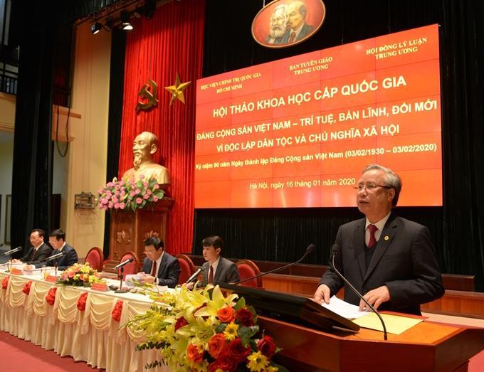 """""""Đảng Cộng sản Việt Nam - Trí tuệ, bản lĩnh, đổi mới vì độc lập, tự do và chủ nghĩa xã hội"""""""